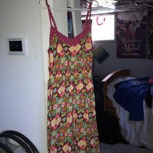 Sun Dress with Flower Pattern